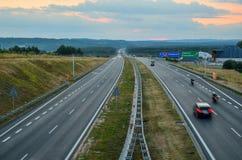 Estrada A4 em Rudno, Polônia Imagem de Stock