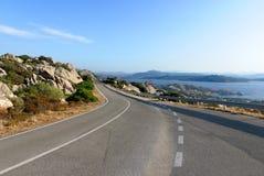 Estrada em Sardinia imagem de stock