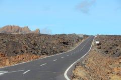 Estrada em Tenerife Foto de Stock Royalty Free