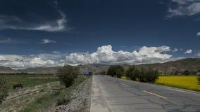 Estrada em Tibet fotos de stock royalty free