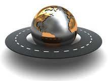 Estrada em torno do mundo Imagens de Stock Royalty Free