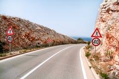 Estrada em um ambiente natural bonito Imagem de Stock
