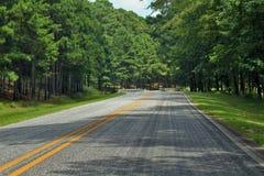 Estrada em um dia ensolarado Foto de Stock Royalty Free