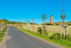 Estrada em um prado Foto de Stock