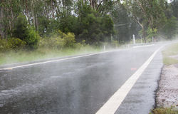 A estrada enevoada Fotos de Stock