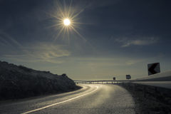 Estrada ensolarada Imagens de Stock Royalty Free