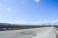 Estrada ensolarada Imagens de Stock