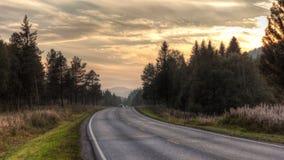 Estrada ensolarada Fotografia de Stock