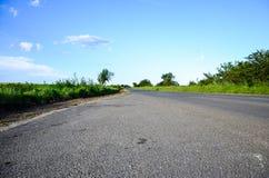 Estrada ensolarada Foto de Stock Royalty Free