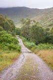 Estrada escocesa fotografia de stock