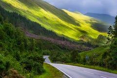 Estrada escocesa Imagem de Stock Royalty Free