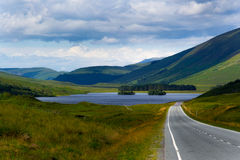 Estrada escocesa Fotografia de Stock Royalty Free