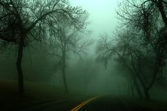 Estrada escura Fotografia de Stock Royalty Free