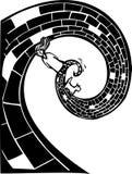 Estrada espiral ilustração royalty free