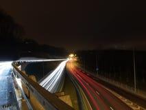 Estrada estagnante na noite Imagem de Stock Royalty Free