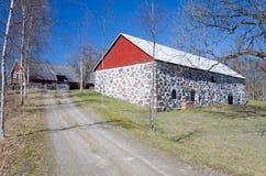 Estrada à exploração agrícola sueco Fotografia de Stock Royalty Free