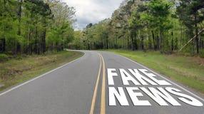 Estrada falsificada da notícia Imagens de Stock Royalty Free
