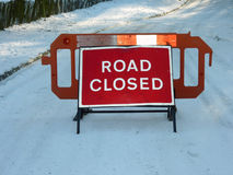 Estrada fechada Foto de Stock