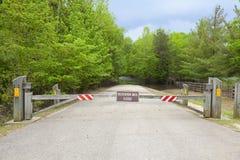 Estrada fechada Imagem de Stock Royalty Free