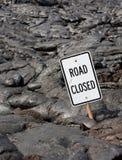 Estrada fechada! Imagem de Stock Royalty Free