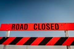 Estrada fechada imagens de stock