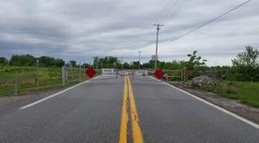 Estrada fechada adiante Imagem de Stock