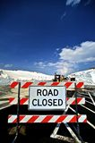 Estrada fechado Imagem de Stock Royalty Free