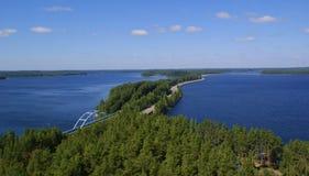 A estrada Finlandia Imagem de Stock Royalty Free