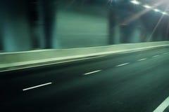 Estrada futurista do borrão de movimento no túnel Foto de Stock Royalty Free