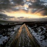 Estrada gelada congelada fotografia de stock