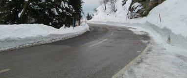 Estrada gelada na cena do inverno Imagem de Stock Royalty Free