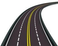 Estrada girada para a direita Fotografia de Stock Royalty Free