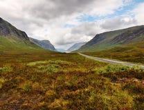 A estrada a Glencoe Foto de Stock