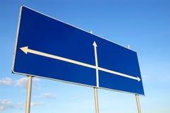 Estrada-guia azul Fotos de Stock Royalty Free