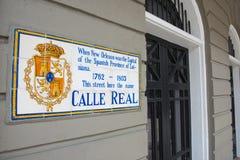 A estrada histórica assina dentro o bairro francês, Nova Orleães foto de stock royalty free