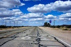 Estrada histórica de Route 66 em Nevada Fotografia de Stock Royalty Free