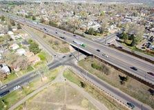 Estrada I70 em Denver Colorado Fotografia de Stock Royalty Free