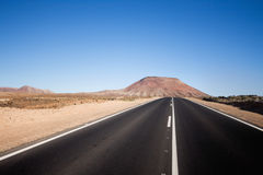 Estrada infinita Imagem de Stock