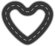 Estrada infinita do amor Imagem de Stock