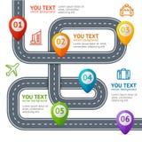 Estrada Infographic com lugar Mark Elements Vetor Imagem de Stock