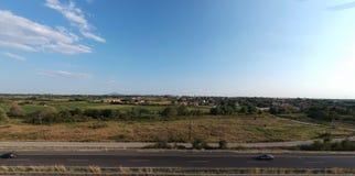 Estrada internacional de Egnatia em Grécia fotos de stock royalty free