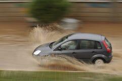 Estrada inundada Fotos de Stock Royalty Free