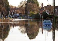 Estrada inundada Foto de Stock Royalty Free