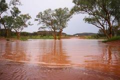 Estrada inundada Foto de Stock