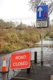 Estrada inundada fechado foto de stock