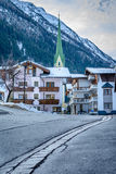 Estrada a Ischgl, Áustria Foto de Stock Royalty Free