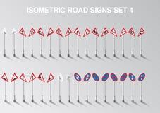 A estrada isométrica do vetor canta o grupo para nosso próprio cidade ou infographics ilustração stock