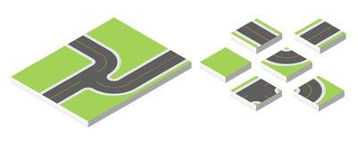 Estrada isométrica Vector a ilustração eps 10 isolada no fundo branco Imagens de Stock Royalty Free