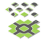 Estrada isométrica Vector a ilustração eps 10 isolada no fundo branco Foto de Stock Royalty Free