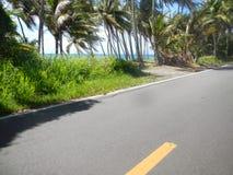 Estrada lateral da praia Foto de Stock Royalty Free